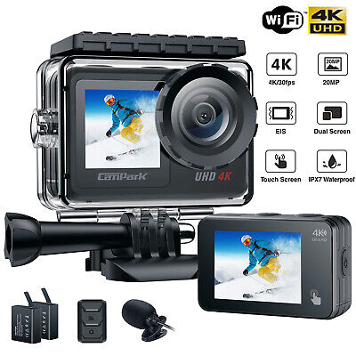 """Campark ACT74 Action Cam 4K 16MP WiFi FHD Sports Camera 2.0"""" LCD Waterproof 32GB"""