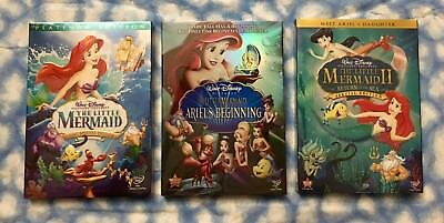 Little Mermaid Trilogy 3-DVD Set - Free USPS FIRST CLASS Shipping