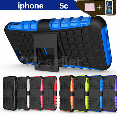 Case Cover For Apple iPhone 5C PC TPU Shockproof Hybrid Kickstand Soft