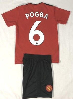 """Manchester United Kids 2-Piece Soccer Set With """"pogba 6"""""""