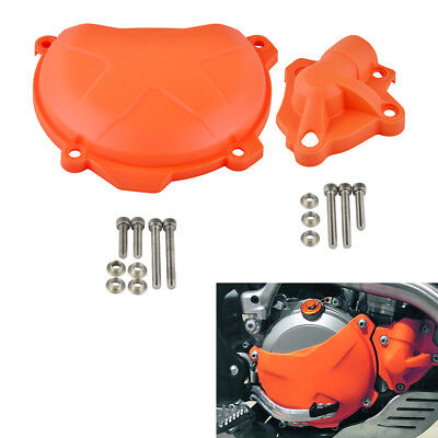 Clutch Cover & Water Pump Guard Protector Cap For KTM 250 350 SXF EXCF XCF XCF-W