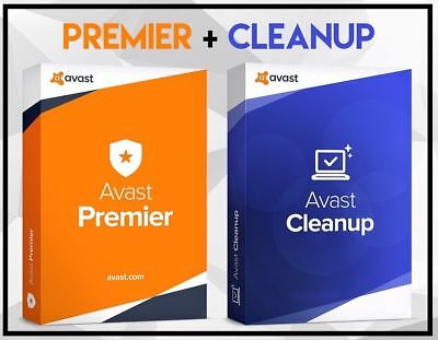 Genuine Avast Premier Code Antivirus & Cleanup with License for 1 Year 2Pcs