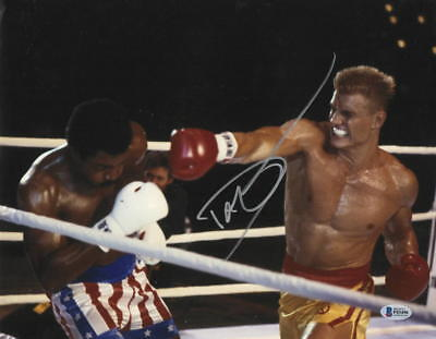 Dolph Lundgren Signed 11X14 Photo Authentic Autograph Rocky Creed Drago Bas A