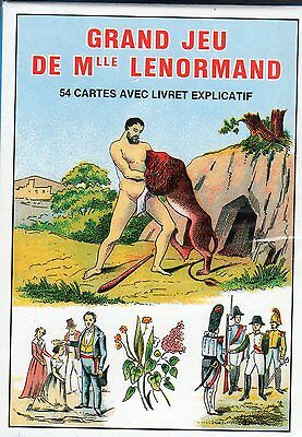 GRAND JEU DE MLLE LENORMAND - 54 Tarot Cards in French & English - NEW