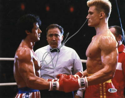 Dolph Lundgren Signed 11X14 Photo Authentic Autograph Rocky Creed Drago Bas B