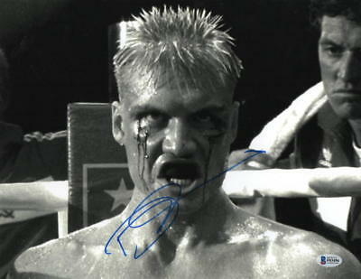 Dolph Lundgren Signed 11X14 Photo Authentic Autograph Rocky Creed Drago Bas E