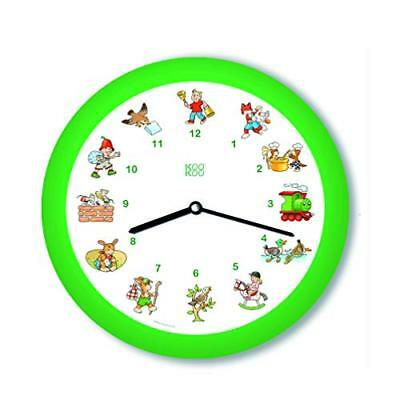 KOOKOO Kinderlieder Green kids wall clock with 12 different rhymes