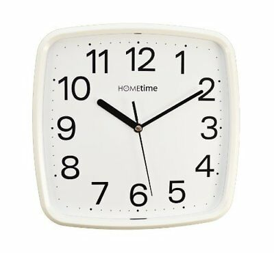 Wm.Widdop Plastic Wall Clock with Sweep - White