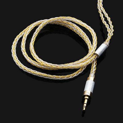 TRN 8 Core Upgraded Silver Plated Cable 2.5/3.5mm MMCX 0.75 Earphone Audio Cable