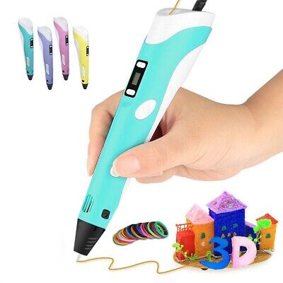 3D Doodle Printing Pen LCD Stereoscopic Drawing Art Craft+3m Filaments+Charger M