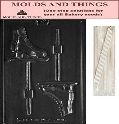 ICE SKATE LOLLY Chocolate Candy Mould With © Moulding Instruction + 25