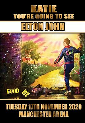 Elton John Concert Gift tour card ticket present. ANY TEXT OR DATE   Farewell