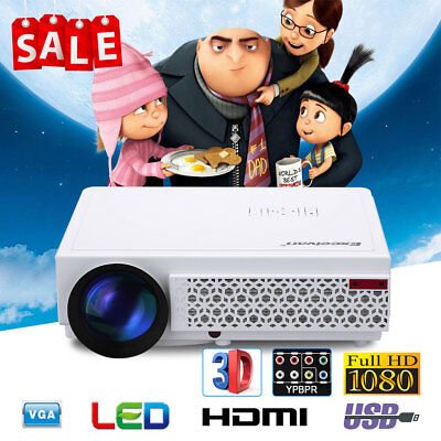 Excelvan 96+ 5000 Lumens LCD LED Proiettore Full HD 1080P Projector Xmas Regalo