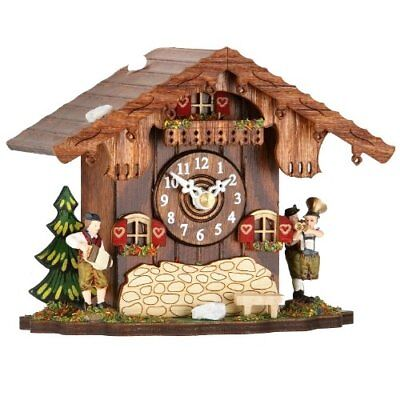 Mantel-clock with cuckoo call, incl. batterie