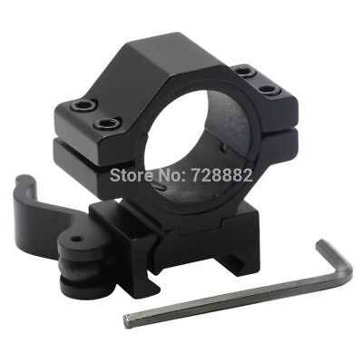 30mm/25.4m Quick Release QD Scope Ring Weaver Picatinny Rail Flashlight Mount