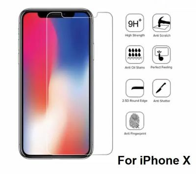 For Apple IPhone X  100% Genuine Tempered Glass Film Screen Protector