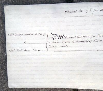 Artifact,1828, George Iv Vellum Cloth Indenture/Deed, Leighton Buzzard, Tring