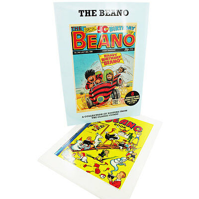 "Beano Special Edition 8 x Posters 12 by 16"" UNIQUE CHRISTMAS GIFT - BRAND NEW"