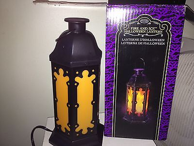 ANIMATED FIRE & ICE Simulated FLICKER FLAMES GEMMY LANTERN HAUNTED Electric Prop