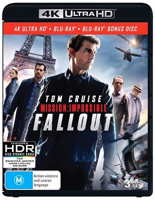 Mission Impossible - Fallout 4K : NEW Blu-Ray 4K UHD