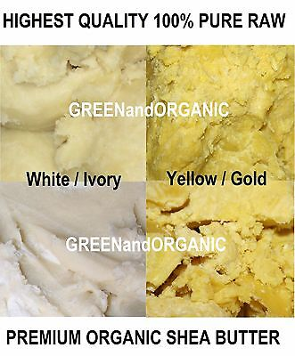 4 Lbs PREMIUM Organic Natural SHEA BUTTER PURE Raw Unrefined Yellow/Ivory 1.81Kg