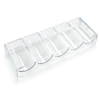 Acrylic Casino Poker Chip Tray for 68mm Wide Chips (Holds 100 Chips)