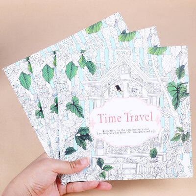 XUES® 1PC/Set 24Page Time Travel Coloring Book For Children Adult Relieve Stress