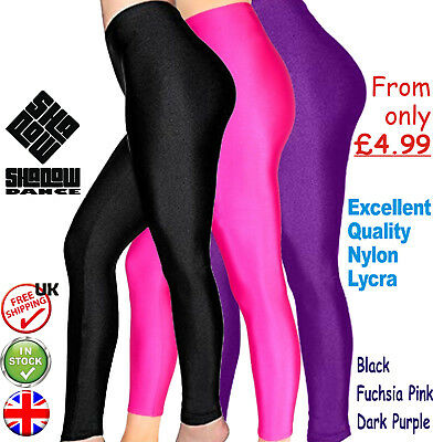 All Colours Lycra Shiny Dance Disco Ballet Gym Ankle Leggings By Katz KDT002