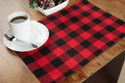 New! Red Black Buffalo Check Buffalo Plaid Placemats ~ Christmas And Every Day