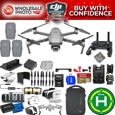 DJI Mavic 2 Pro Fly More Combo With 2 Extra Batteries and 20 Piece Accessory Kit