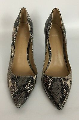 ee36544897f Banana Republic Snakeskin Print Leather High Heels Pumps Shoes Size 9 1 2