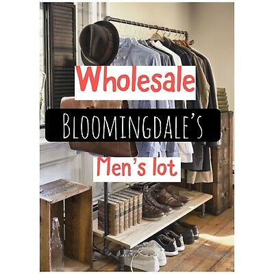 New WHOLESALE Lot Men's Clothing Higher End Bloomgingdales Name Brands Resellers