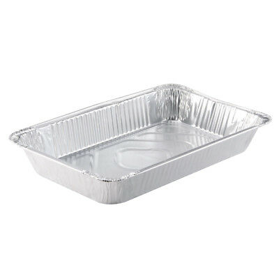 Pactiv 1/2-Size Aluminum Steam Pan Disposable Silver, 120 oz. (100 per Case)