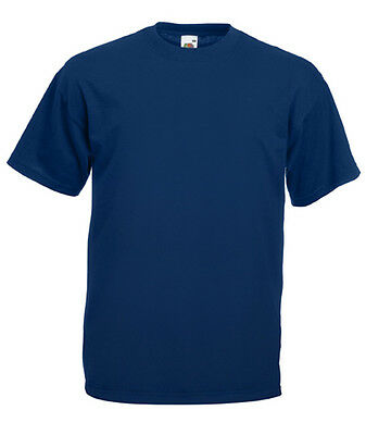"T-shirt Uomo/Man BLU NAVY Fruit of The Loom 6 Taglie Mod. 61-036-0 ""Valueweight"""