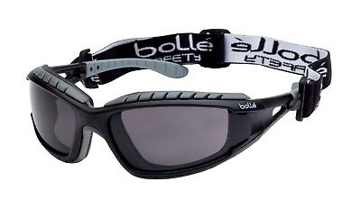 Bolle Tracker Safety Glasses TRACPSF Smoke Lens Anti-Scratch Anti-Fog + free bag