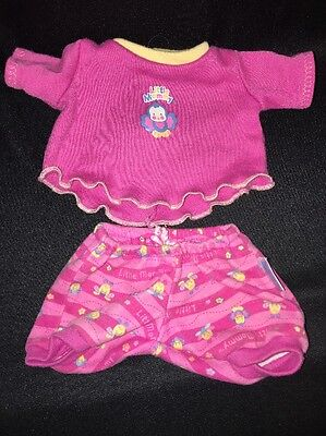"""FISHER-PRICE Little Mommy Doll CLOTHES Bloomers Top BLUE BIRDS BEES Fit 12""""-14"""""""