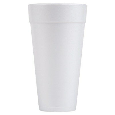 Solo 24J16 Drink Foam Cups, Hot/Cold, 24oz, White, 500 Count