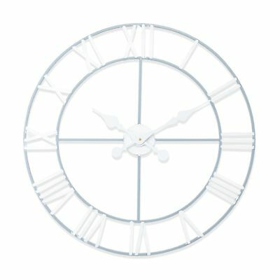 "New Haven Grey and White Skeleton Wall Clock  60cm (24"") Diameter"