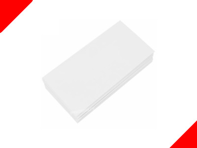50 DL Envelopes White Plain 80gsm 220mm x 110mm Self Seal Office Letter Pack