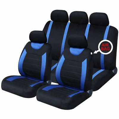 UKB4C Blue Full Set Front & Rear Car Seat Covers for Dodge Ram All Years