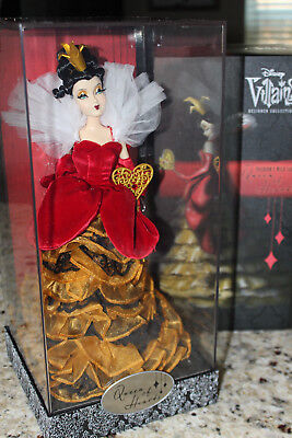 Disney Designer Collection Doll Villains QUEEN OF HEARTS Limited Edition w/ Bag