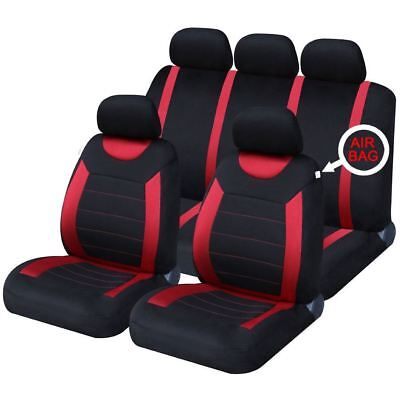 UKB4C Red Full Set Front & Rear Car Seat Covers for Ssangyong Korando