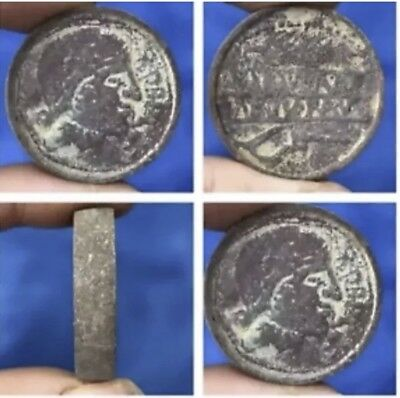 Antique Old Roman Party Double Side Pictures  Bronze Coin