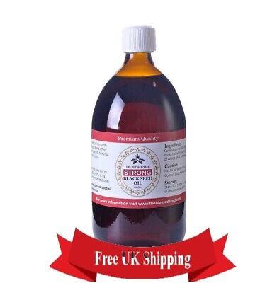 "Strong Black Seed Oil Cold Pressed 100% Halal by ""The Blessed Seed"" 1 LITER"