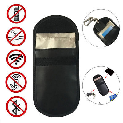 New Car Key Keyless Entry Fob Signal Guard Blocker Black Genuine Faraday Bag UK