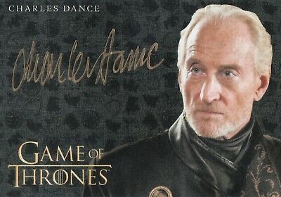 Game of Thrones Valyrian Steel, Charles Dance 'Tywin Lannister' Gold Auto Card