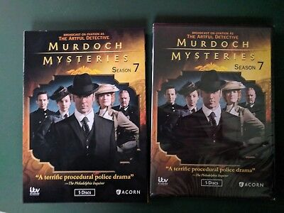 Murdoch Mysteries: Season Seven, 7, SEALED, 5 DVDs, Slipcover, Ohio seller