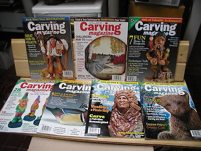 7 CARVING Magazines uncirculated whittling woodcarving  #19,22,31,32,34,38,39