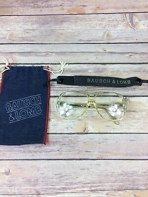 Vintage Bausch & Lomb Action Eyes Sport Safety Glasses Goggles With Strap & Bag