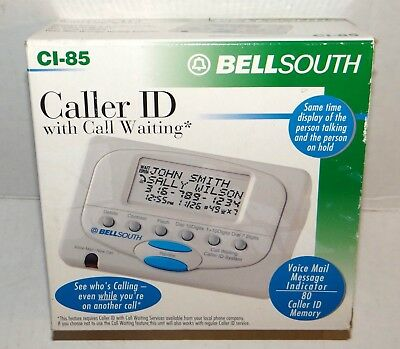 BellSouth CI-85 Caller ID With Call Waiting New / Open Box